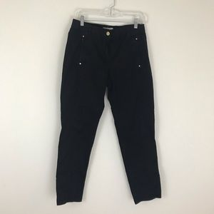 Chico's Size 0 Black Slim Cotton Pants